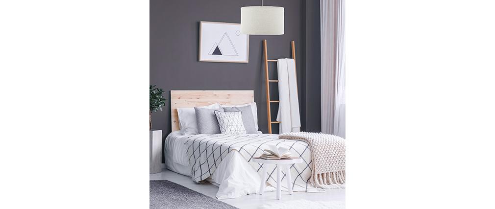 Lámpara de techo en yute gris D35 cm NIL