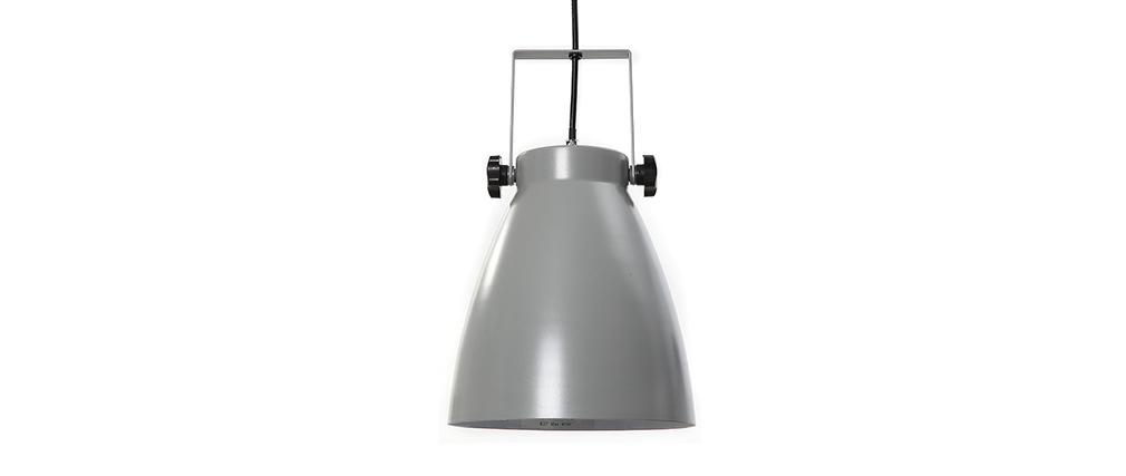 Lámpara de techo industria gris LOWIE