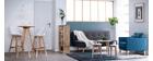 Lámpara de techo metal blanco y madera D36cm JAVA