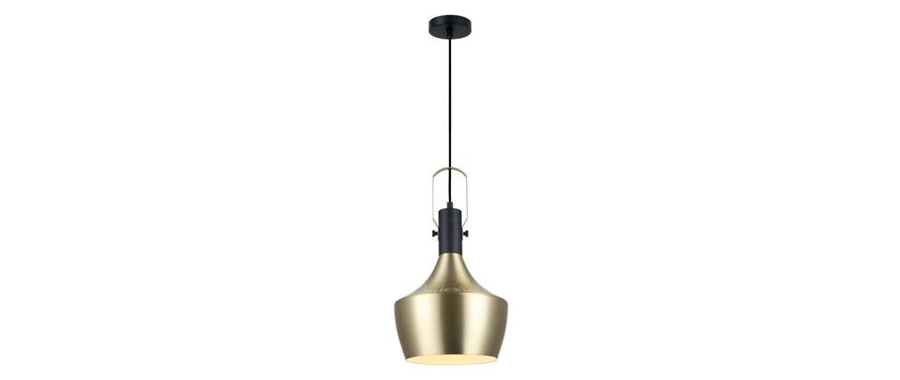 Lámpara de techo metal dorado D25cm TUBAE