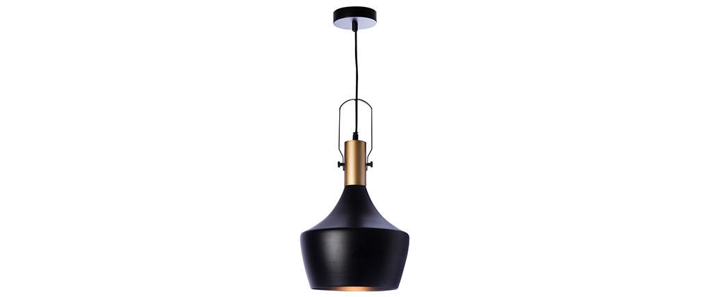 Lámpara de techo metal negro D25cm TUBAE