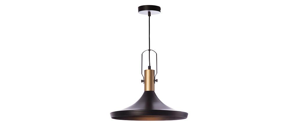 Lámpara de techo metal negro D36cm TUBAE