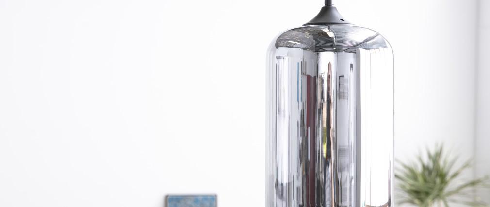 Lámpara de techo moderna cristal transparente negro MILAN