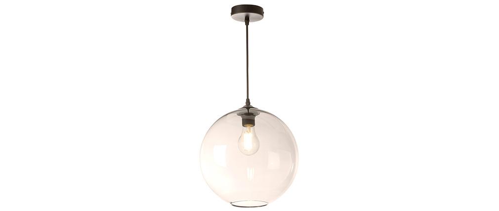 Lámpara de techo pantalla en cristal ahumado D30 cm DUNA