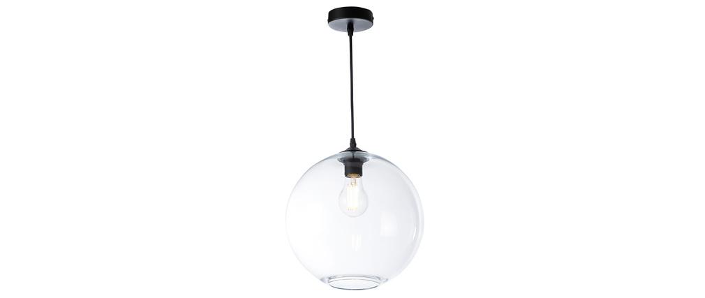 Lámpara de techo pantalla en cristal transparente D30 cm DUNA