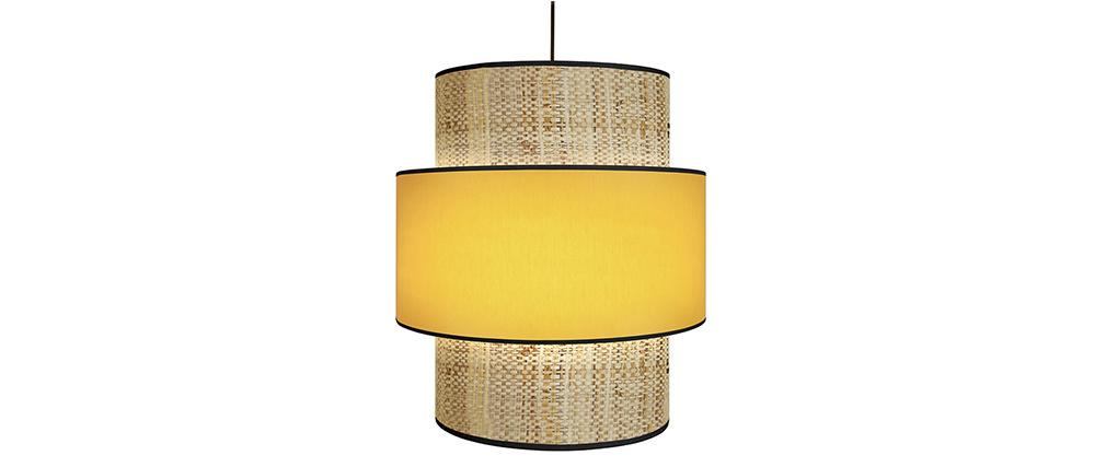Lámpara de techo yute y mostaza D40 cm CHILL