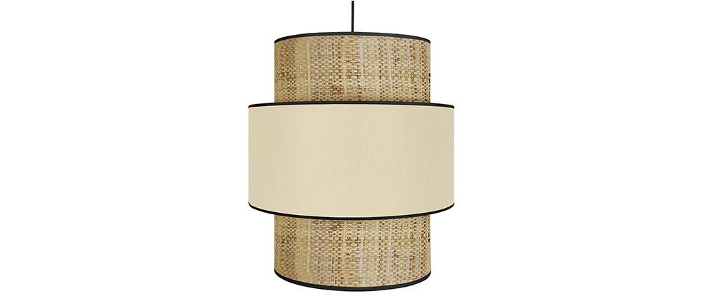 Lámpara de techo yute y tejido natural D40 cm CHILL