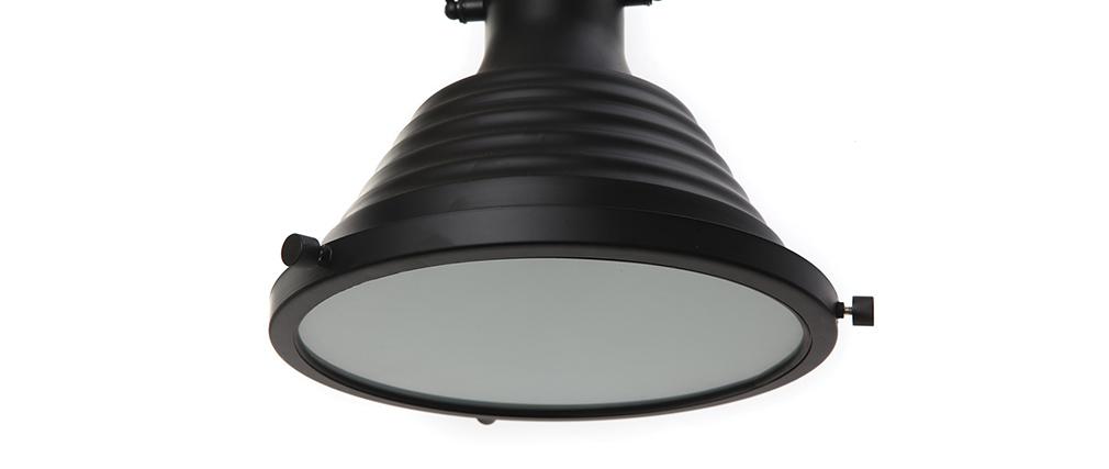 Lámpara industrial negro mate INDUSTRIA