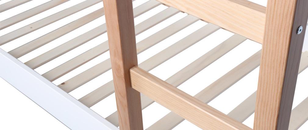 Litera infantil madera clara y blanco ALTO