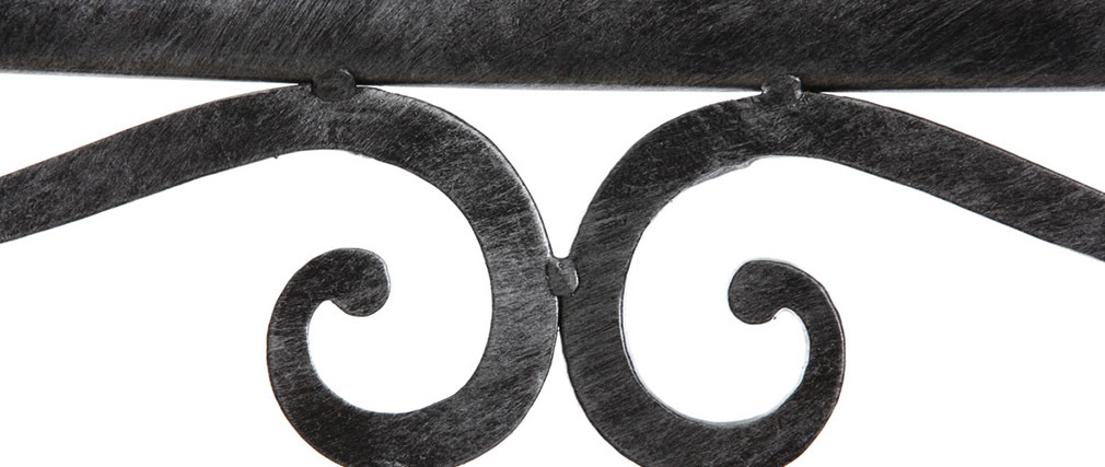 Lote de 2 sillas barrocas de metal color negro VENEZIA
