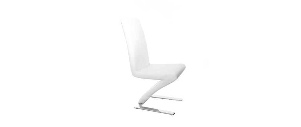 Lote de 2  sillas de diseño blancas NEW ANGIE