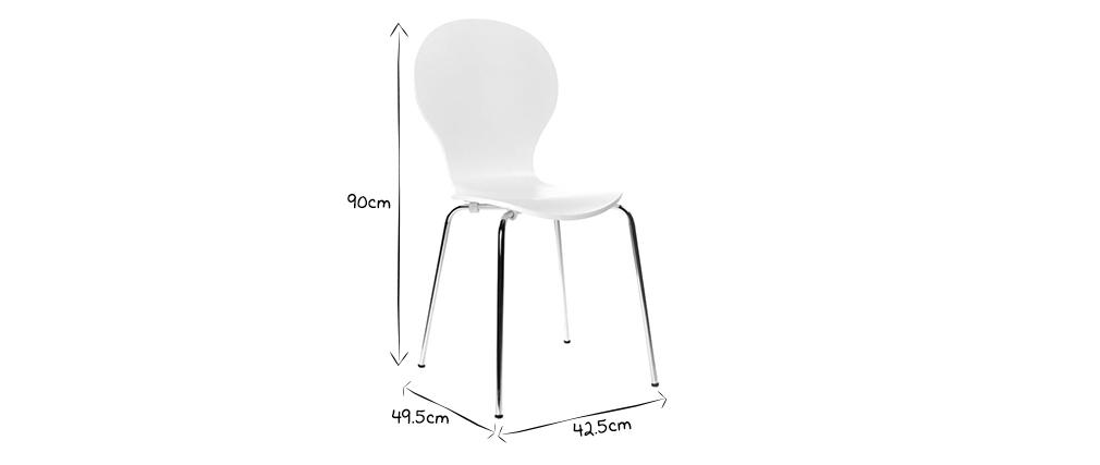 Lote de 2 sillas de diseño color gris NEW ABIGAIL