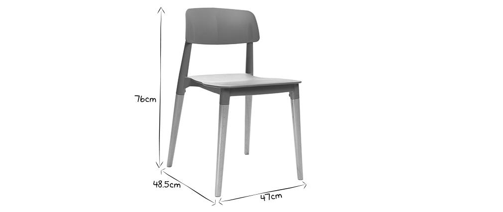 Lote de 2 sillas de diseño escandinavo negras GILDA