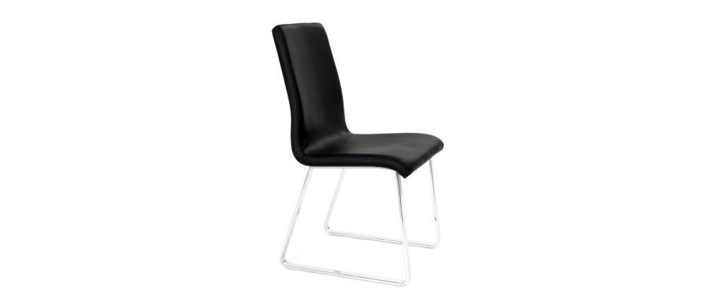 Lote de 2 sillas de diseño negras BELLA