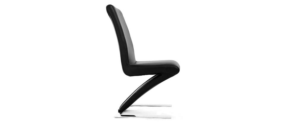 Lote de 2  sillas de diseño negras  NEW ANGIE