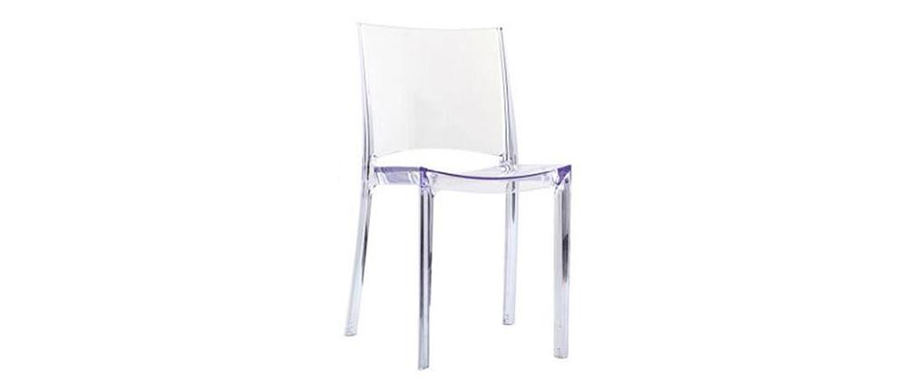 Lote de 2 sillas de diseño transparentes KALYA