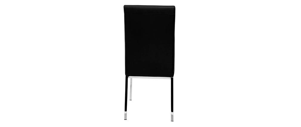 Lote de 2 sillas diseño poliuretano negras SIMEA