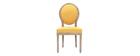 Lote de 2 sillas en tejido amarillo patas madera clara LEGEND