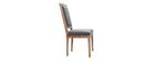 Lote de 2 sillas en tejido gris oscuro patas madera clara AMAURY