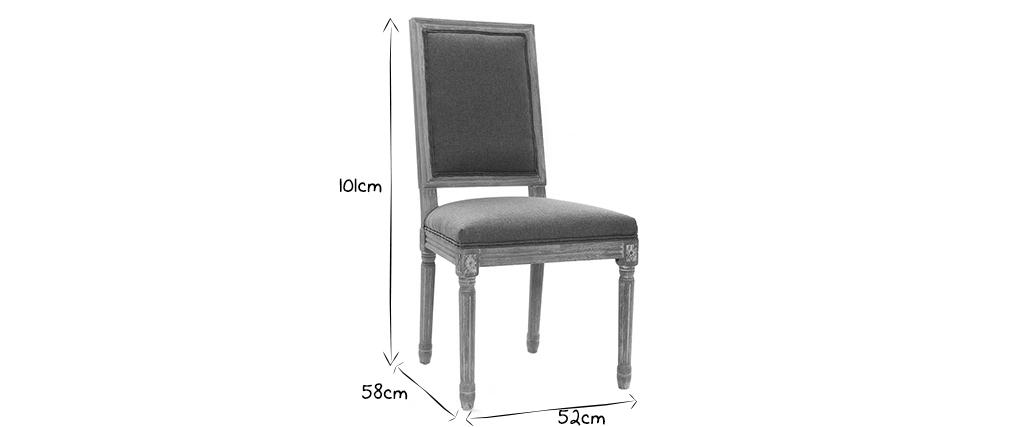 Lote de 2 sillas en tejido natural patas madera clara AMAURY