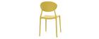 Lote de 2 sillas modernas amarillo polipropileno ANNA