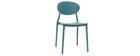 Lote de 2 sillas modernas azul petroleo polipropileno ANNA