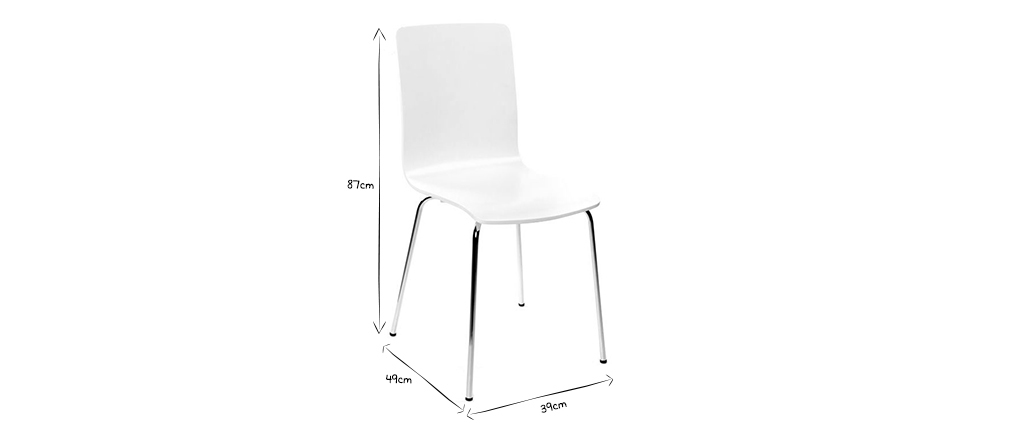 Lote de 2 sillas modernas color blanco NELLY