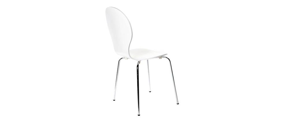 Lote de 2 sillas modernas color blanco NEW ABIGAIL