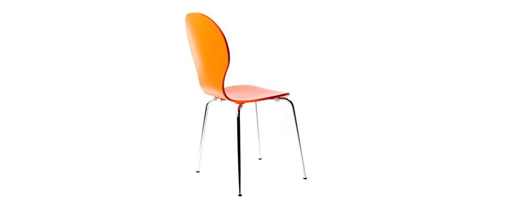 Lote de 2 sillas modernas color naranja NEW ABIGAIL