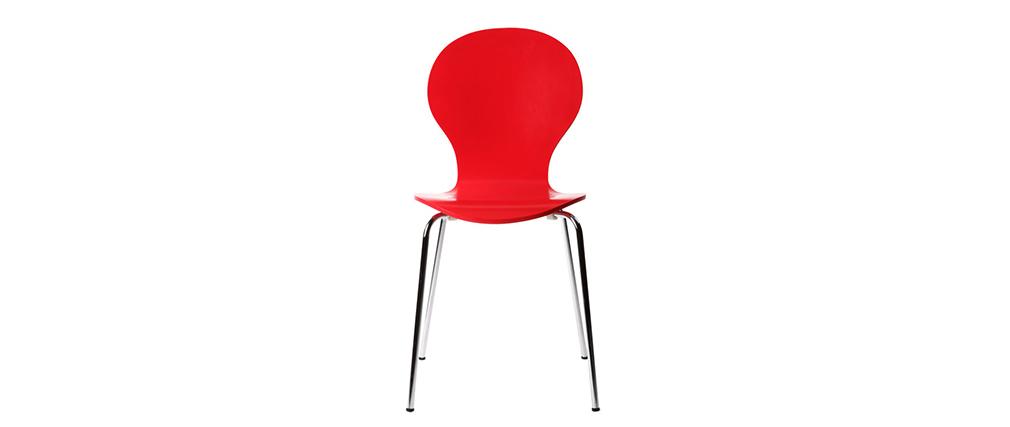 Lote de 2 sillas modernas color rojo NEW ABIGAIL
