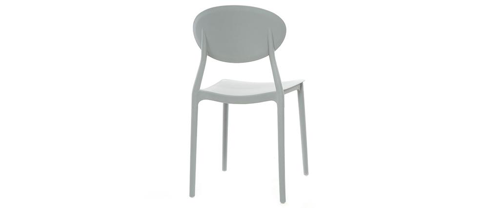 Lote de 2 sillas modernas gris polipropileno ANNA