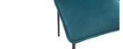Lote de 2 sillas modernas terciopelo azul petróleo SOLACE