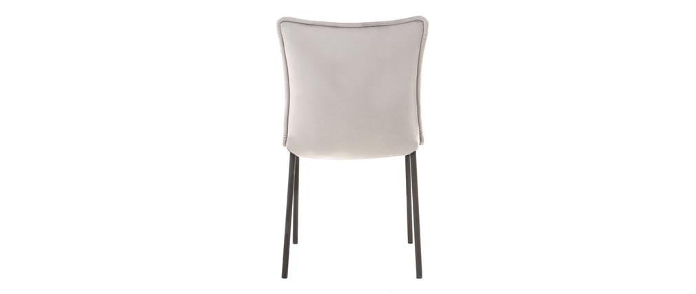 Lote de 2 sillas modernas terciopelo gris SOLACE