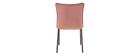 Lote de 2 sillas modernas terciopelo rosa SOLACE