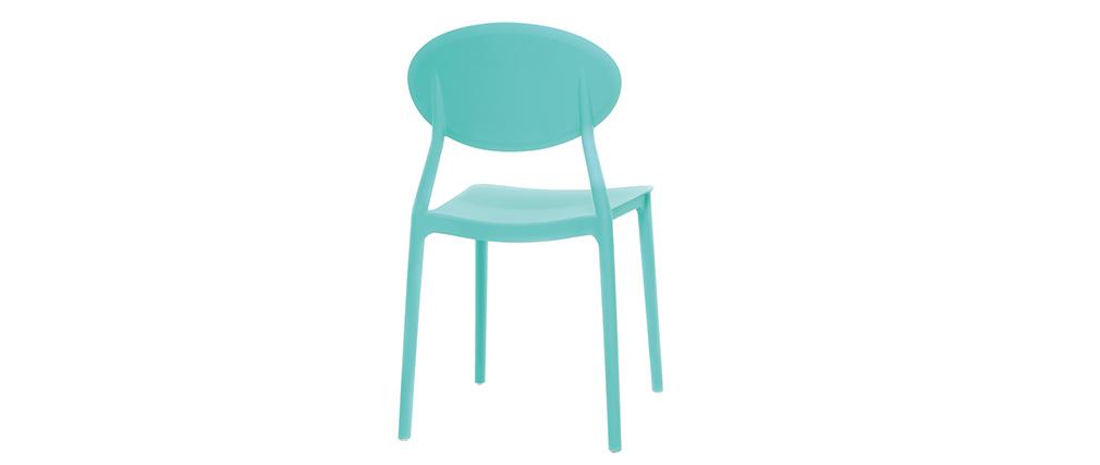 Lote de 2 sillas modernas turquesa polipropileno ANNA