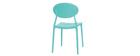 Lote de 2 sillas modernas verde agua polipropileno ANNA