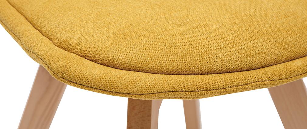 Lote de 2 sillas nórdicas en tejido mostaza MATILDE