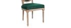 Lote de 2 sillas terciopelo verde esmeralda patas madera clara LEGEND