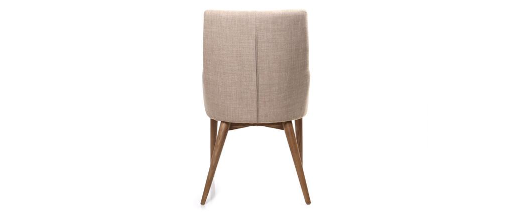 Lote de 2 sillones de diseño en poliéster beige SHANA