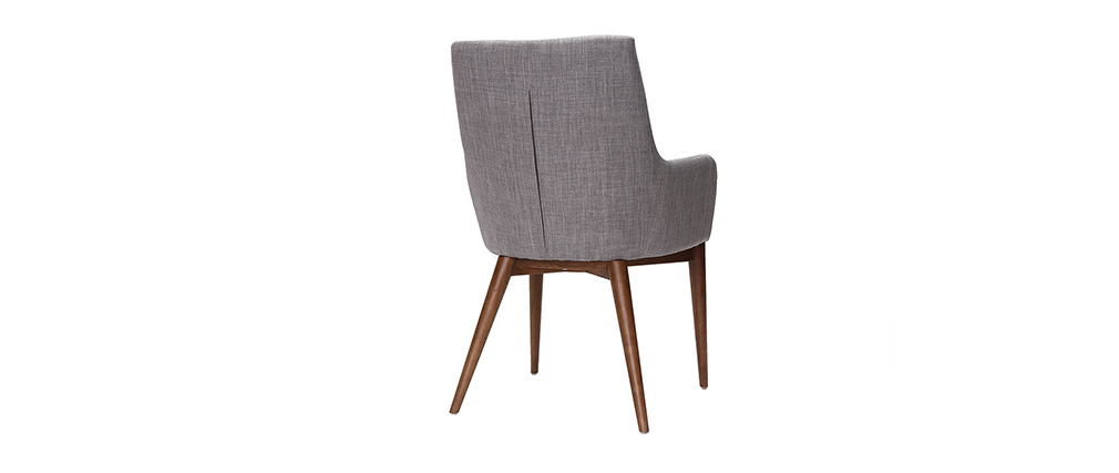 Lote de 2 sillones de diseño en poliéster gris claro SHANA