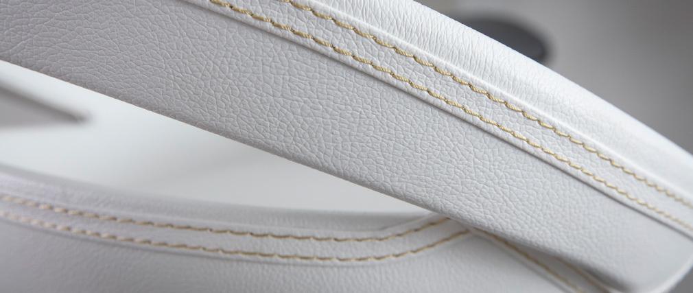 Lote de 2 taburetes comet con recubrimiento de PVC color blanco