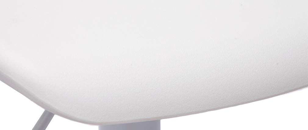 Lote de 2 taburetes de bar diseño blanco KRONOS