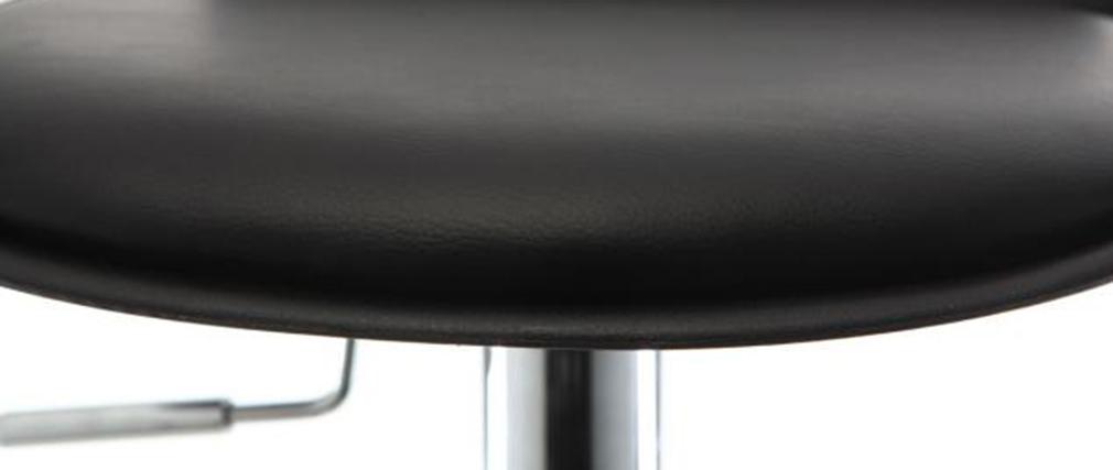 Lote de 2 taburetes de bar diseño negro NOVA