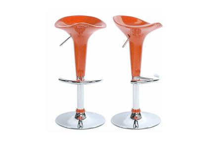 Lote de 2 taburetes de bar GALAXY color naranja