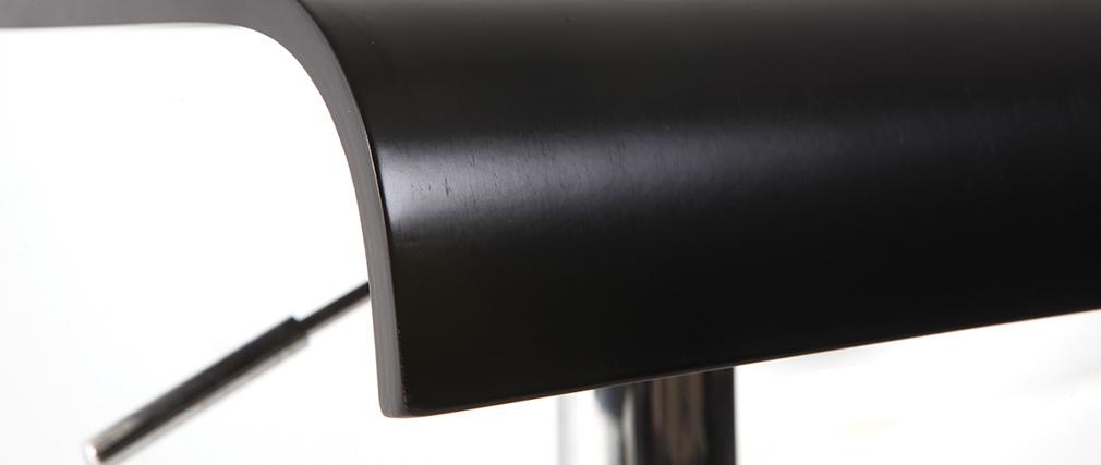 Lote de 2 Taburetes de bar NewSurf de color negro