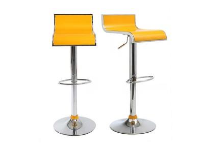 Lote de 2 taburetes de bar WAVES color amarillo