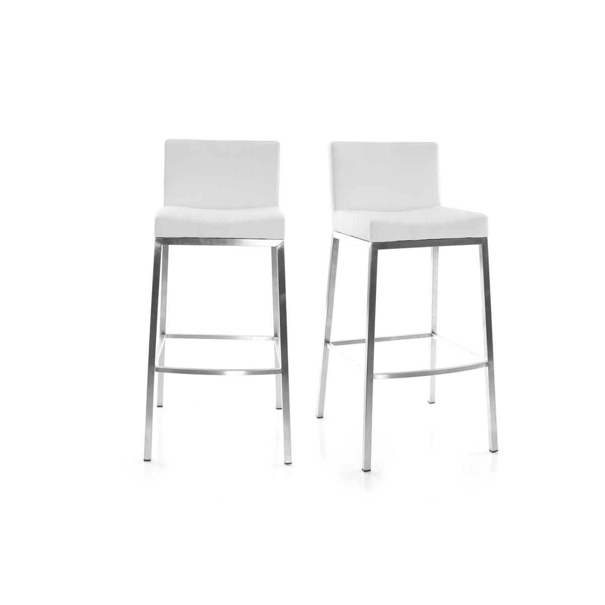 Lote de 2 taburetes diseño blanco Epsilon