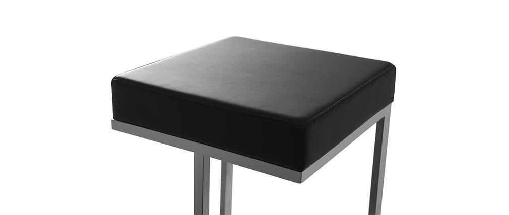 Lote de 2 taburetes diseño negro Omicron