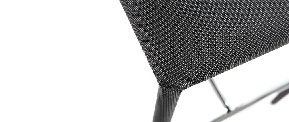 Lote de 2 taburetes modernos gris antracita TALOS