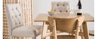 Lote de 2 taburetes/sillas de bar tejido natural A75cm RIVOLI